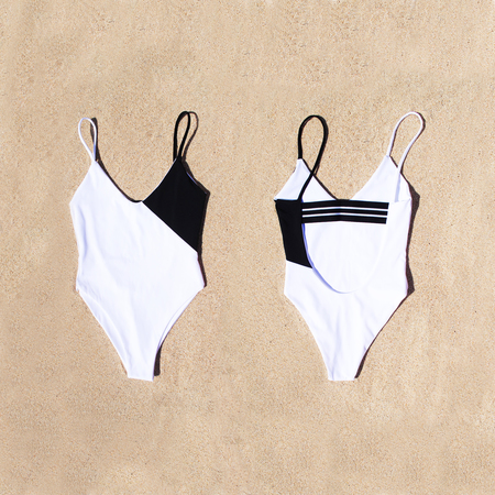 Fin and Ray Duet One Piece - Black & White