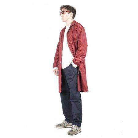 UNISEX Drôle de Monsieur Stripy Long Coat - Red