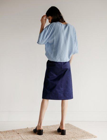 Lemaire Womens Flared Skirt - Blue