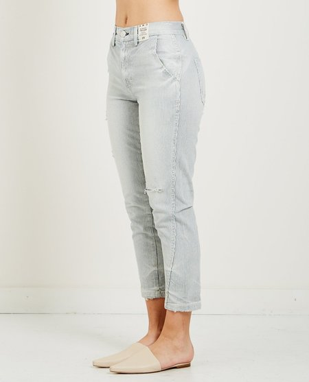 amo denim SLOUCH TROUSER - TICKING STRIPE