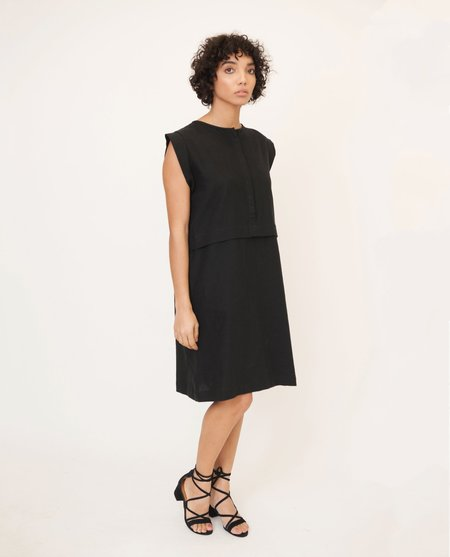 Beaumont Organic Adele May Linen And Cotton Dress - Black