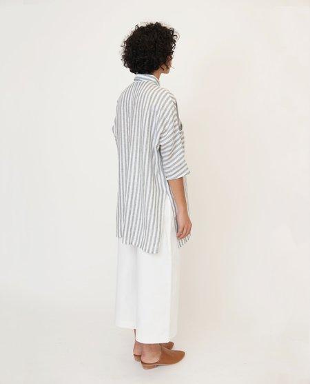 beaumont organic Marsha Linen Shirt - Grey/White