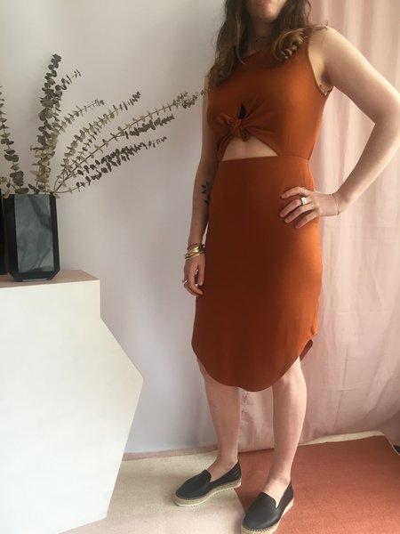 Eve Gravel Wildflower Dress - Ochre