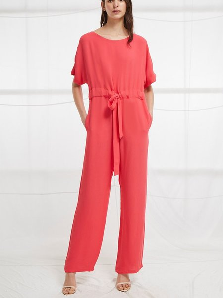 French Connection Patras Crepe Long Jumpsuit
