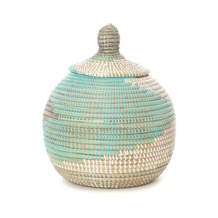 Swahili Modern Lidded Gourd Basket