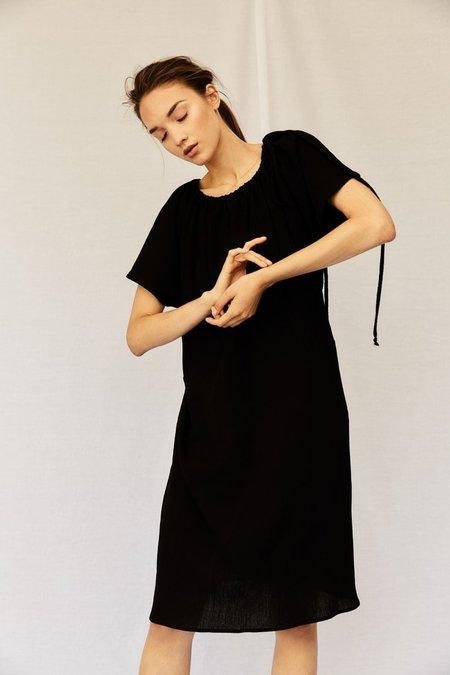 Devlyn Van Loon Drawstring Dress - NAVY