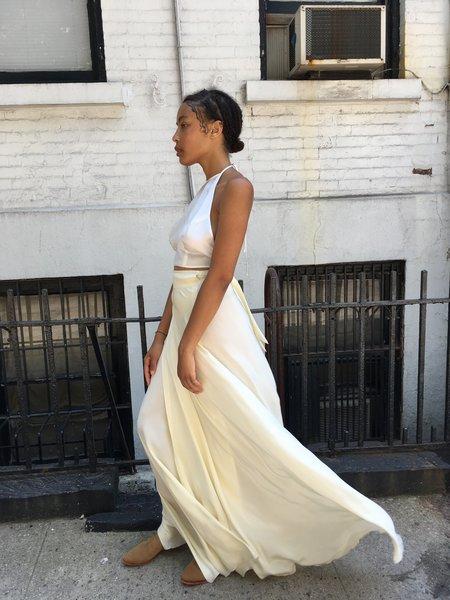 Delphine Long Silk Skirt
