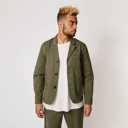 SUIT SUITAINABLE LAB Dr Brønnum blazer - DUST GREEN