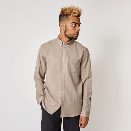 SUIT SUITAINABLE LAB Dr Rufus shirt - DARK SAND