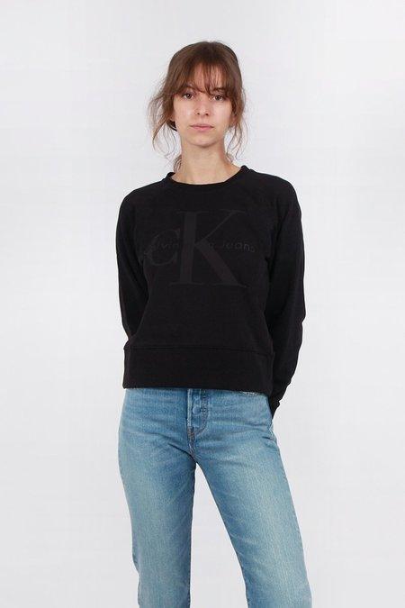 Calvin Klein Bonded Logo Sweater - Black