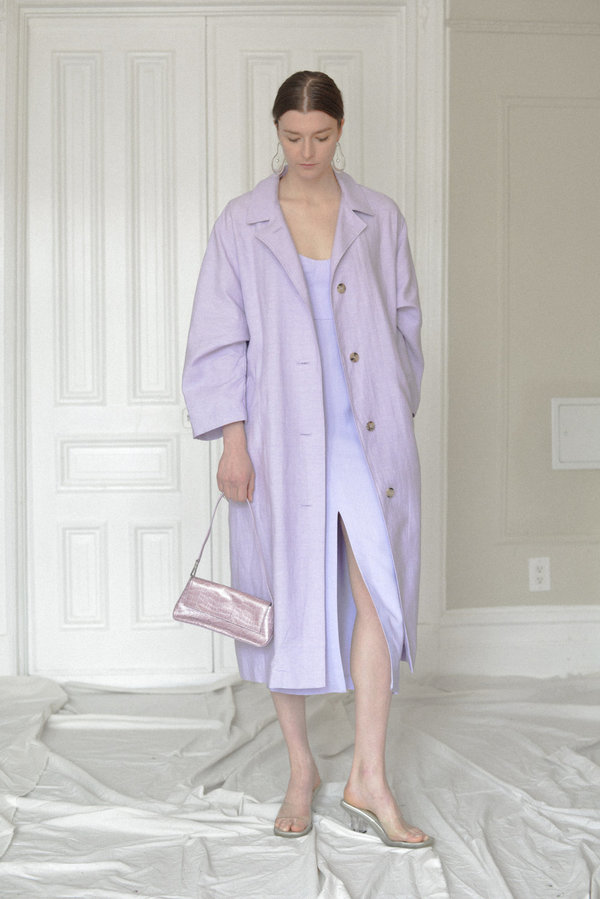 Waltz Oversized Trench - Orchid
