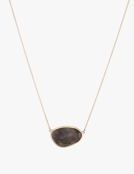 Kathryn Bentley Brown Sapphire Slice Necklace