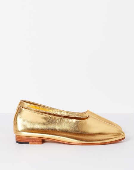 Martiniano Glove Flat Shoe - Metallic Gold