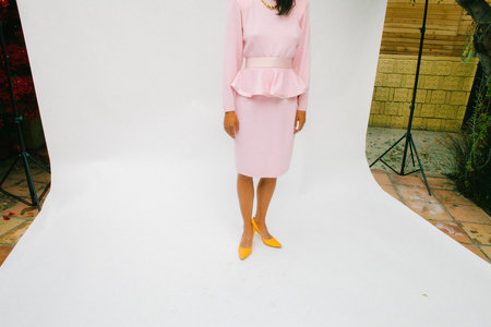 Cherry Blossom Knitwear Dress