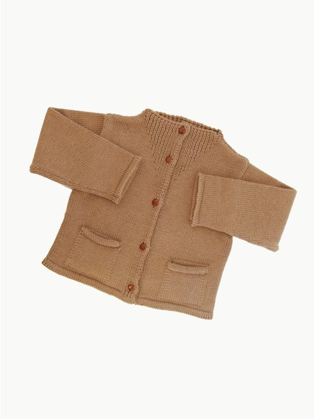 KIDS James Street Co Workwear Cardigan - Camel