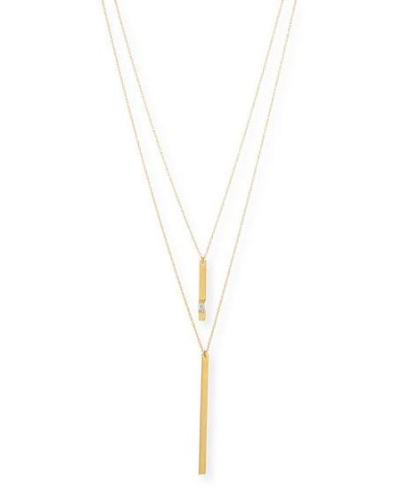Jennifer Zeuner Phoebe Necklace - 18K YELLOW GOLD VERMEIL