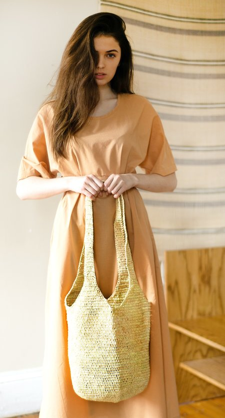 COLORANT RAFFIA BAG - NATURAL