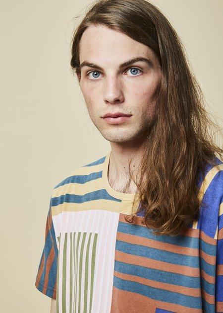 Epice Block Stripe Boyfriend Tee