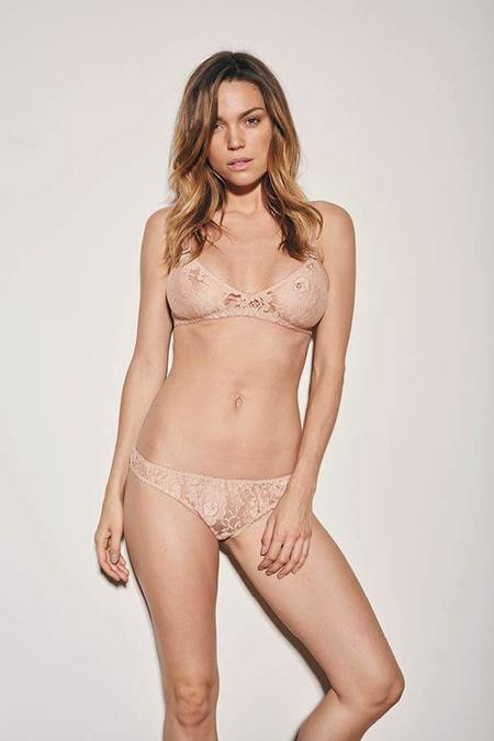 UNDERPROTECTION kira lace briefs - NUDE