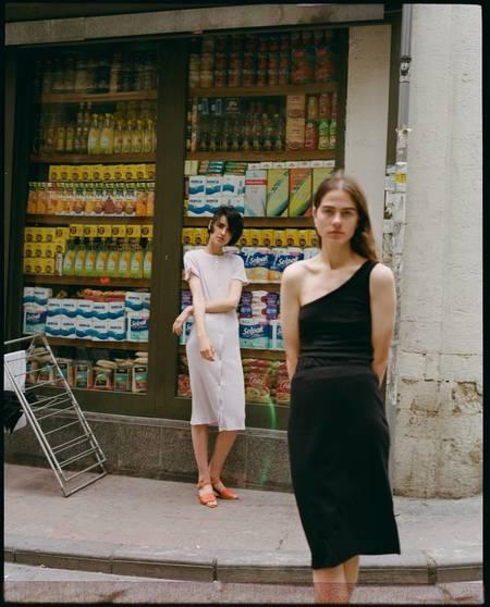 By Signe One Shoulder Top Dress - Black