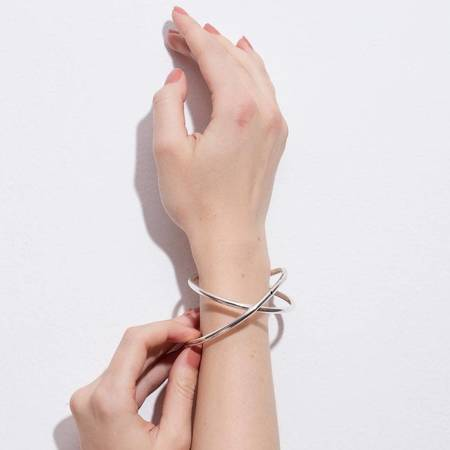 Gala Is Love Emanuelle Bangle Bracelet - Silver