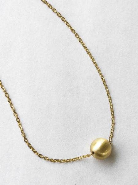 Common Muse Lou Ball Necklace - Matte Gold