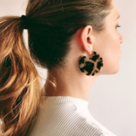 Machete Clare Earrings - Blonde Tortoiseshell