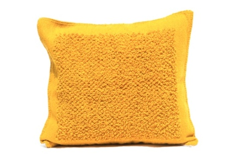 Mexchic X-large Boucle Cotorin Texture Wool Floor Pillow - Ochre