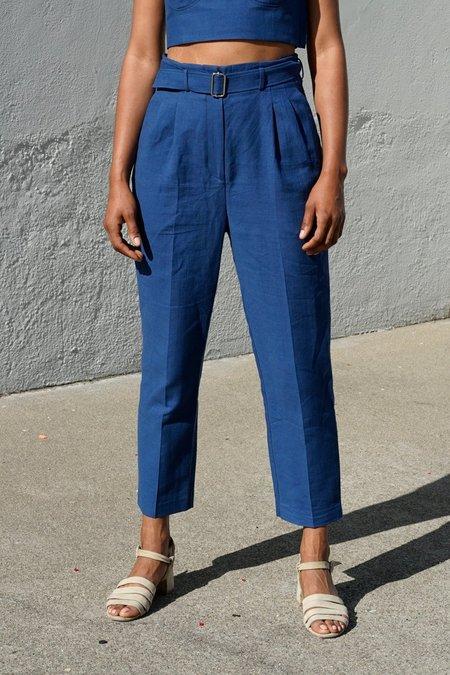 Waltz Belted Trouser - Blue Jean Baby
