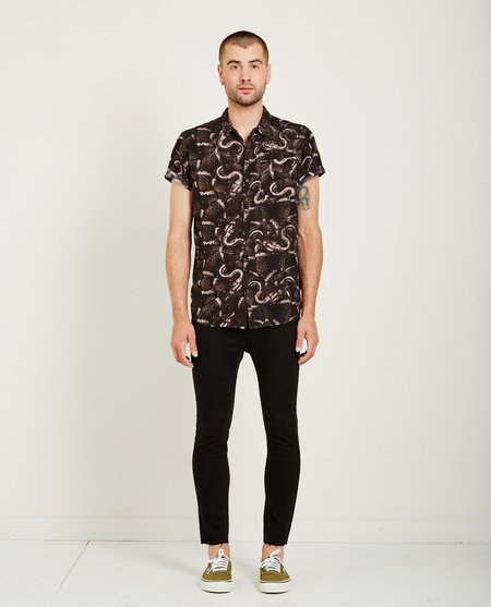 Rollas BEACH BOY SHIRT - BLACK SNAKE