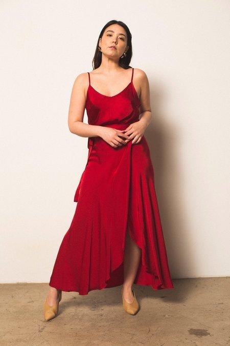 Nation Ltd Bianca Skirt - Crimson