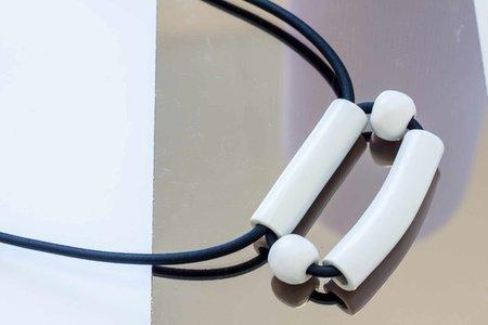YYY Box Necklace - White
