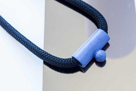 YYY Drop Necklace - Blue