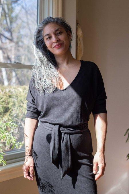 Eve Gravel Les Noces Dress - Black