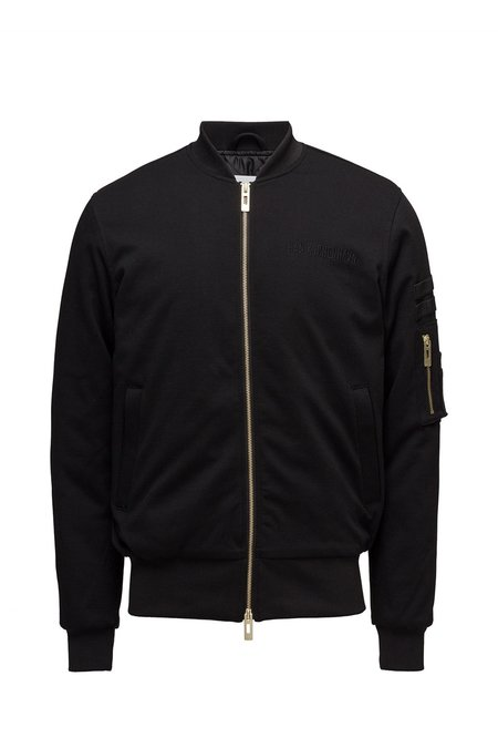 Han Kjobenhavn Jersey Bomber Jacket - Black