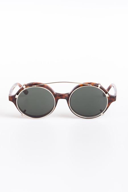 Han Kjobenhavn Doc Clip-On Sunglasses - Amber