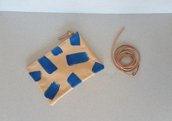Pine and Boon Blue Streaks Clutch