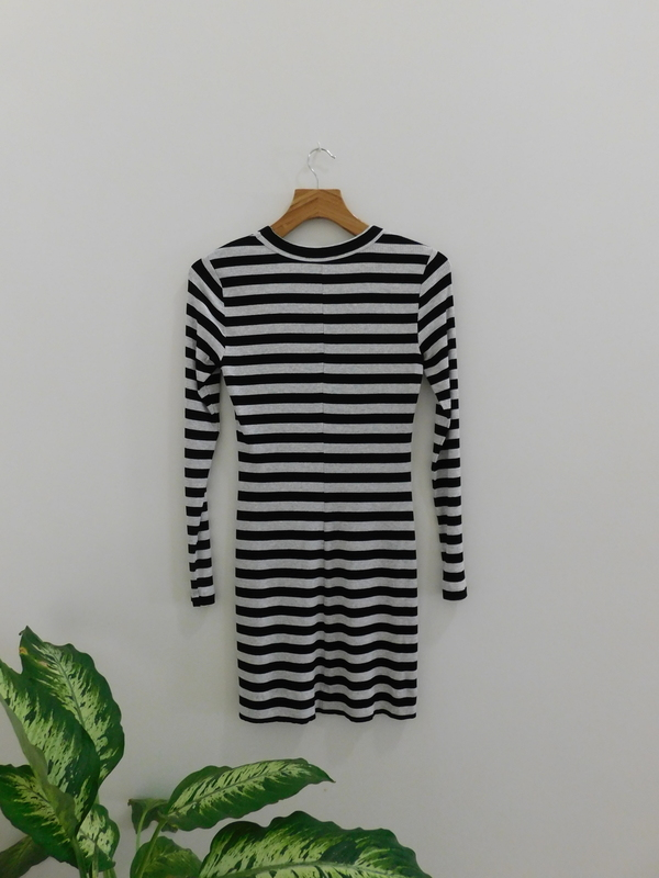 Red 23 Long Sleeve Stripe Dress