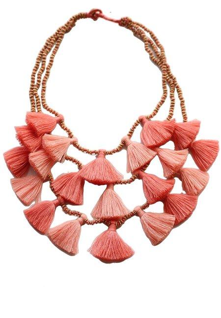 Bluma Project Gia Tassel Necklace - Coral
