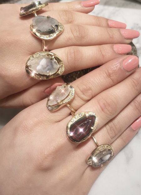 Nicole Kwon Concept Store Druzy Rings