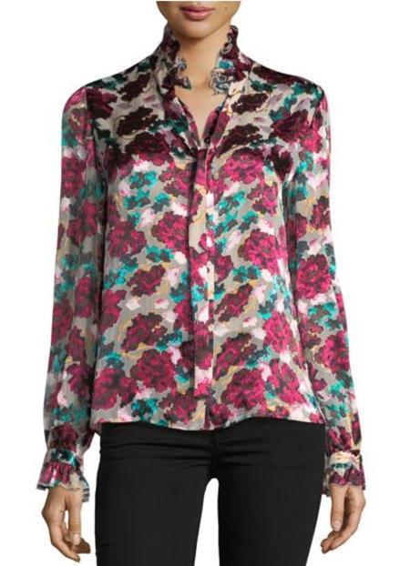 Saloni Emile Top - Blossom Cloudy Rose