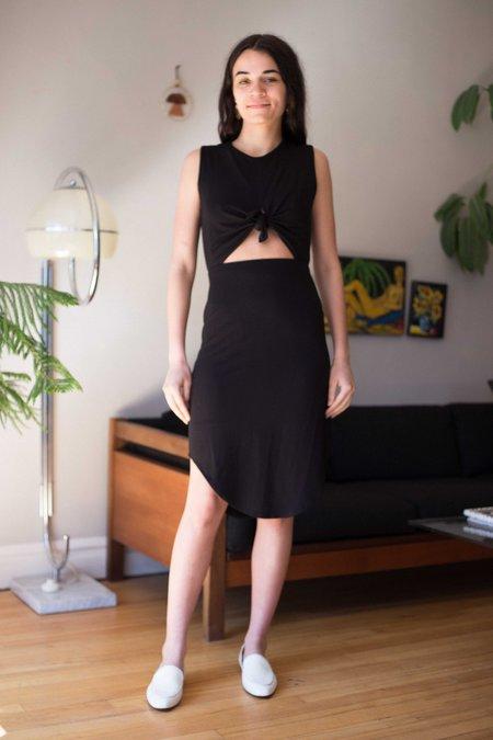 Eve Gravel Wildflower Dress - Black Jersey