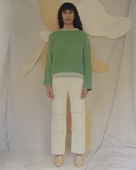 Unisex Halo Labels GAUZE sweatshirt - GREEN