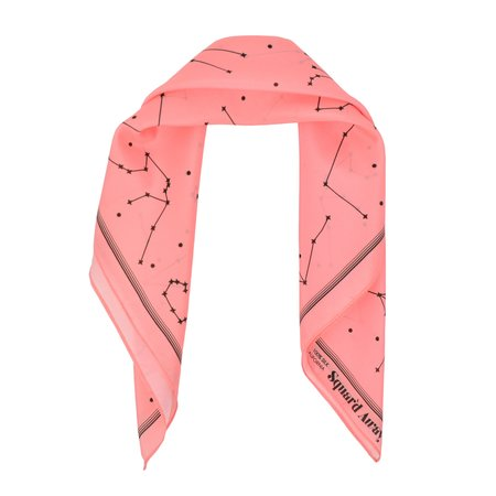 Squar'd Away The Night Sky scarf - salmon