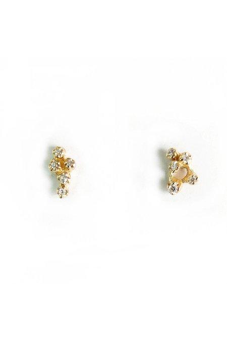 N + A Diamond Cluster Earrings