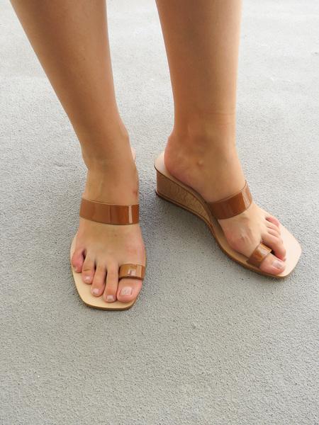 LOQ CADIZ Wedge sandal - MARTINI