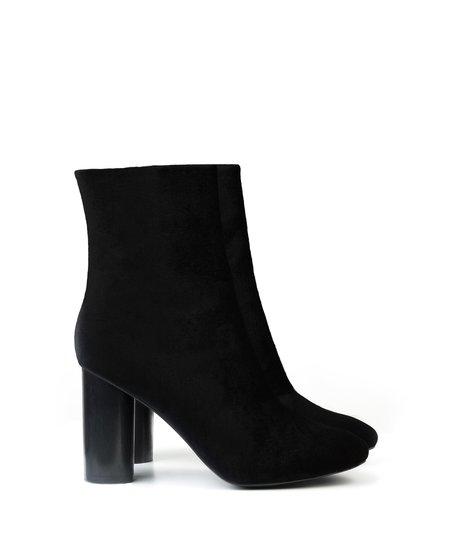 Sydney Brown High Ankle Boot Black Velvet