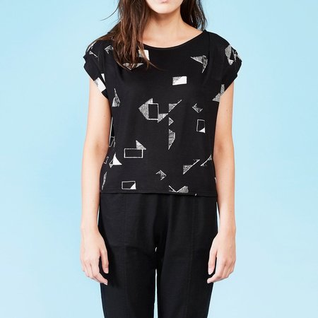 Dagg & Stacey Ferris Top - Black Print