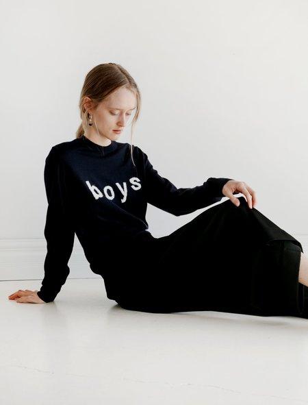Unisex Comme des Garçons Shirt Boys Pullover Sweater - Navy
