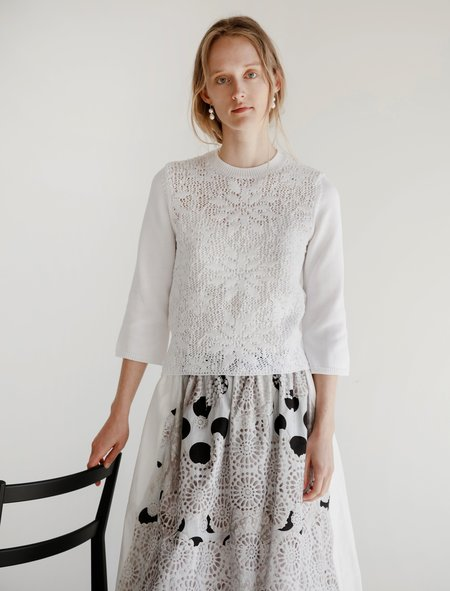 Comme des Garcons Crochet Summer Sweater - White